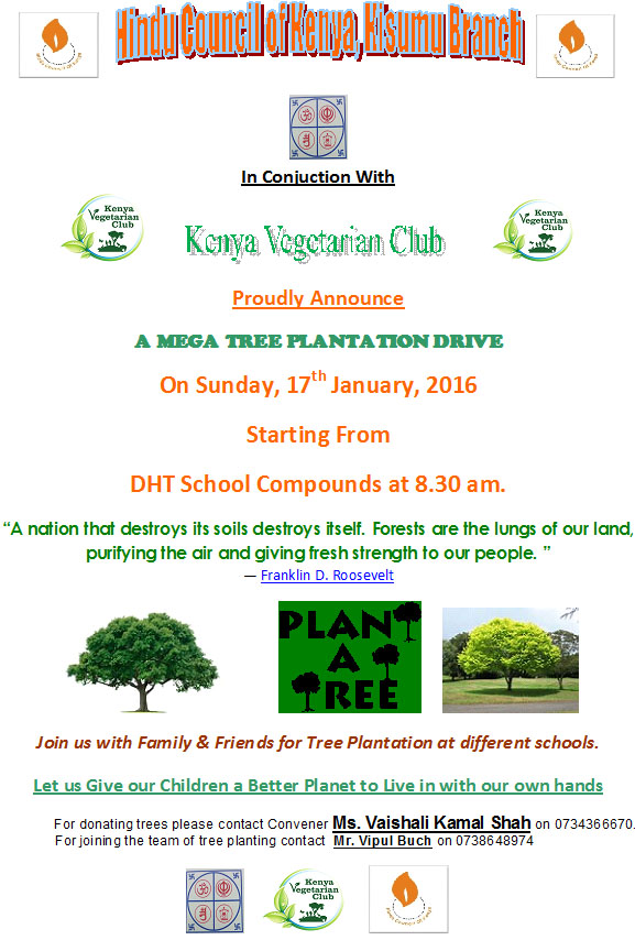 Tree planting drive in Kisumu