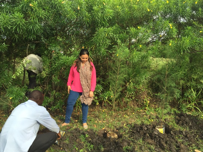 Presentation on forestation in a remote area called Katuk Odeyo near Katito in Kisumu county