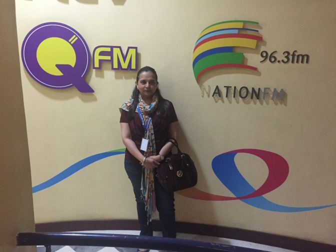 TV interview at K24 channel and Q FM radio in Kenya