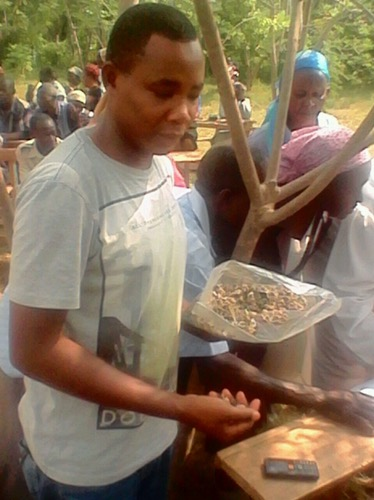 Seed donation at Nyando county