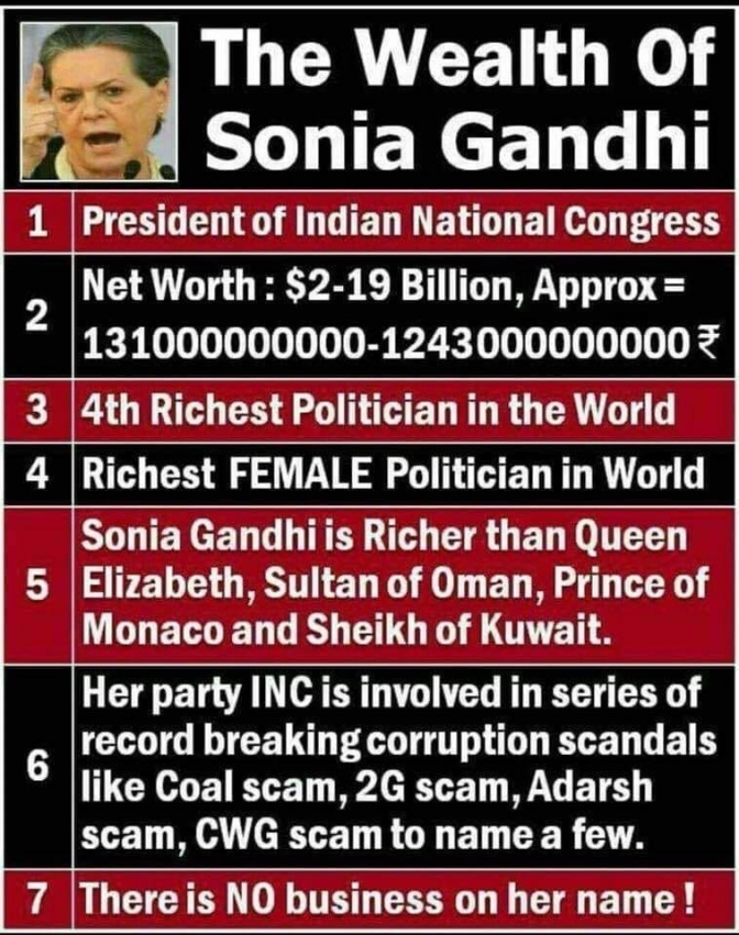 Congress looting India endlessly